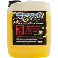 Limpiador de montaña y carretera, bicicleta y cadena y desengrasante para todos los ciclos, motocicletas, dirtbikes, motocross 5L Fast Action Cleaner de Rhino Goo