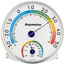 Termometro higrometro analogico,Uten Medidor de humedad y temperatura interior y exterior termómetro higrometro hogar bebe