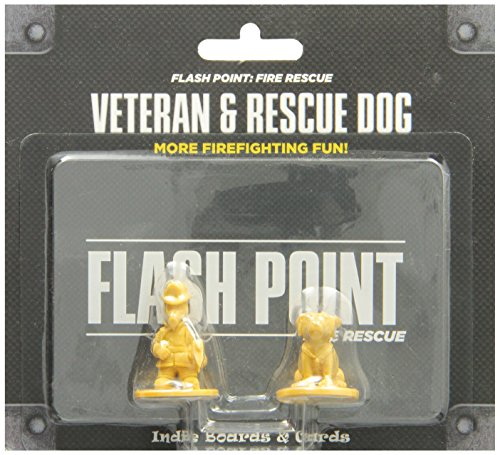 Indie Board & Card Games IBG0FP05 - Flash Point: Fire Rescue - Veteran and Rescue Dog Accessory Brettspiele