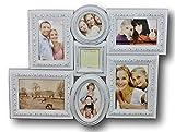 elbmöbel Bilderrahmen Collage weiß antik aus Holz Fotorahmen Family barock Collagen
