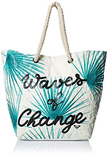 Roxy Damen Beach Tote Waves of Changes Recycled Paper, Strandtasche, Marshmallow, Einheitsgröße (Handtaschen Roxy Weiße)