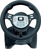 Speedlink Thunder Force Volant pour Playstation 2/PS2(vibrations, Frein à main, Dérailleur, Kit de pédale)