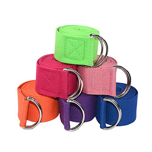 Namgiy Yoga Cintura Fitness Cintura Allenamento Fascia Elasticizzata Cintura Yoga Yoga in Cotone Naturale Corda Attrezzature 183 * 3.8cm Colore Casuale