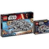 LEGO Star Wars: Millennium Falcon 2 Set Bundle - Large Falcon 75105 & Mini Falcon 75030 by LEGO