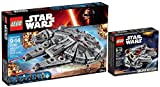 LEGO Star Wars: Millennium Falcon 2 Set Bundle - Large Falcon 75105 & Mini Falcon 75030 by LEGO