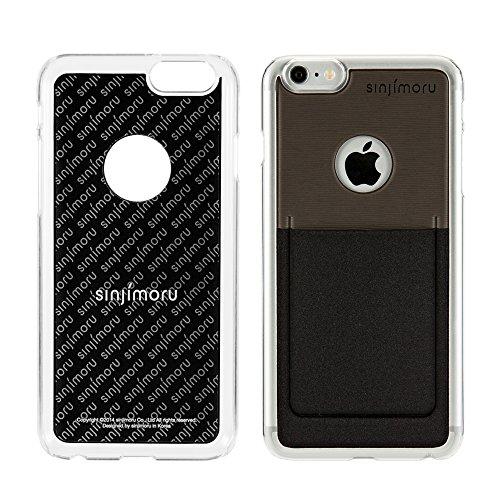 iPhone 6 Plus Wallet Case, Sinjimoru iPhone 6 Plus Hard Case mit Kartenhalter / Schutzhülle mit Smart Wallet Kartenfach auf der Rückseite. Sinji Pouch Case für iPhone 6 Plus / 6s Plus, Pink. Schwarz