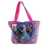 Bolso Grande de Playa plastificado con diseño de Reina de Las Nieves (Frozen, Disney), Color Rosa, 40x2711cm