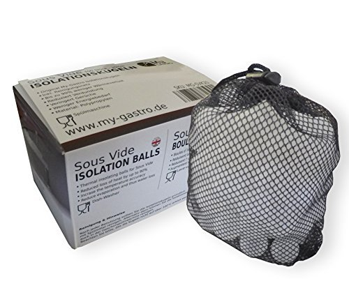 My-Gastro 100 Stk. 20mm Sous Vide Isolationskugeln Isolation spülmaschinengeeignet Garer Stick Kugeln Deckel Antidampfkugeln Bälle Anti Dampf Behälter