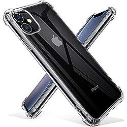 Joyguard Coque iPhone 11 2019 [2 × Verre trempé Protection écran], iPhone 11 Coque Souple TPU Silicone [Shock-Absorption] AIR Cushion Protection Coin Housse iPhone 11-6.1pouces - Transparent