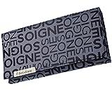 Cadenis Damen Geldbörse Geldbeutel mit persönlicher Laser-Gravur grau Querformat 19 x 9,5 cm