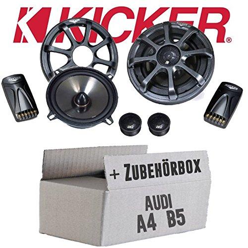 Kicker-sound-system (Audi A4 B5 - Kicker KS50.2-13cm Lautsprecher Boxen System - Einbauset)