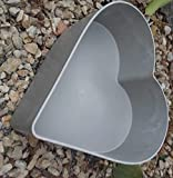 RDI Herz Pflanztopf Pflanzgefäß Pflanzschale Gartendekoration Grabschale Beton/Zement Optik