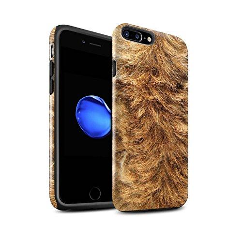 STUFF4 Glanz Harten Stoßfest Hülle / Case für Apple iPhone 8 / Gefieder Muster / Tierpelz Muster Kollektion Hund
