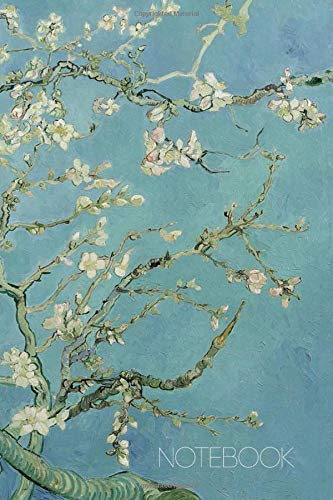 Notebook: Vincent Van Gogh Music Sheet Book Blossoming Almond Tree Notebook Fine Art Impressionism Painting Almond Blossom 120 pages Music Sheet