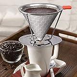 Gaddrt in acciaio INOX 304a nido d' ape caffè filtro caffè gocciolamento rimovibile con portabicchiere