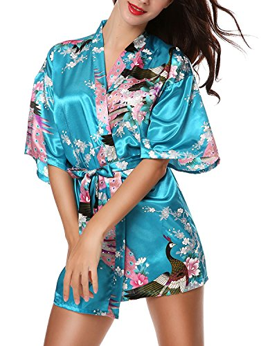 OKDRESS - Chemise de nuit - Manches 3/4 - Femme Turquoise