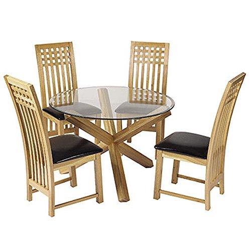 Round Oak Dining Table Amazoncouk