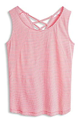 edc by Esprit Women's 056cc1k019 - Top Back Details Sleeveless T-Shirt