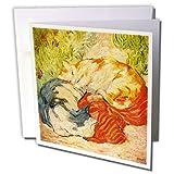 3drose Deutscher Maler Franz Marc Gemälde Katzen–Grußkarten, 15,2x 15,2cm, Set 12(GC _ 109854_ 2)