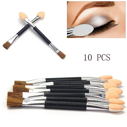 Make-Up Pinsel, GJKK 10Pcs Make-up Pinsel Einweg Kosmetik Bürste Set Werkzeuge Doppelseitige...