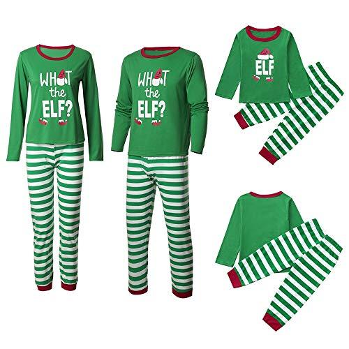 (Familie Kleidung, Xinantime Familie Nachtwäsche Set Familie Ausgestattet Kinder Herren Damen Nachthemd Negligee Sleepwear Weihnachten Familien Pyjamas Set T-Shirt + Hosen Schlafanzug Hausanzug)