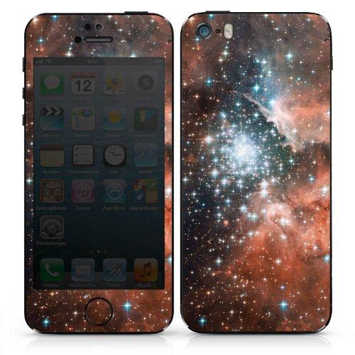 Apple iPhone 4s Case Skin Sticker aus Vinyl-Folie Aufkleber Galaxy Space Galaxie DesignSkins® glänzend