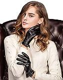 YISEVEN Damen Aus echtem Leder Winter Handschuhe Italienisches Schaf Nappa- Touchscreen Technologie