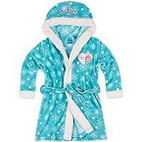 Disney La Reine des neiges Fille Robe de chambre à capuche polaire, toucher doux - turquoise