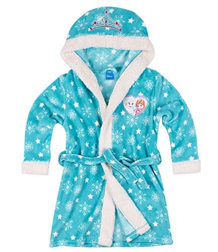 Disney La Reine des neiges Fille Robe de chambre à capuche polaire, toucher doux - turquoise Disney