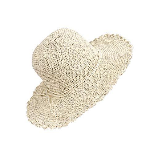 Sombrero Paja Mujer Plegable Bohemia Verano Sun Floppy