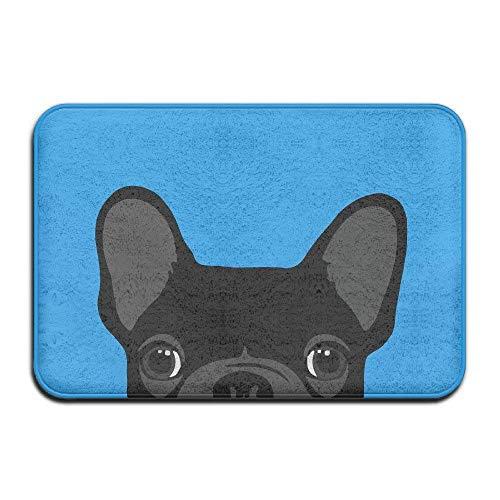 best bags Rutschfeste Fußmatte für den Innen- und Außenbereich, französische Bulldogge, Schwarz