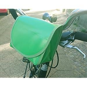 Lenkertasche,grün, wasserdicht aus LKW- Plane von TITA BERLIN