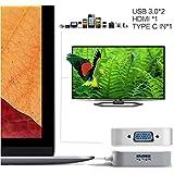 C mŠnnlich USB3.1 Typ weiblichen HDMI mit USB3.0 2 Ports Adapter-Kabel-Konverter
