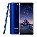 """4G LTE Smartphone ohne Vertrag, Leagoo S8 Dual-SIM Mobiltelefon Günstiges Handy 5,72"""" Bildschirm (18:9 Verhältnis) Vierfach-Kameras 0.1S Fingerabdruck Entsperren, 32GB ROM+ 3GB RAM, 64G Erweiterbar (Blau)"""