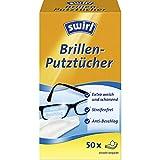 Swirl Brillen-Putztücher 50x (Feuchte Brillenreinigungstücher mit Anti-Beschlag-Effekt für klare Sicht), 50 x 4 Pack