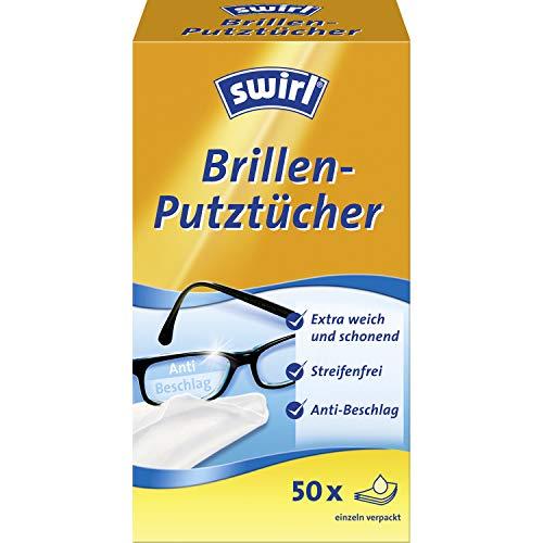 Swirl Brillen-Putztücher 50x (Feuchte Brillenreinigungstücher mit Anti-Beschlag-Effekt für klare Sicht)