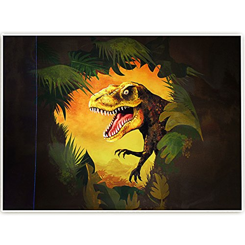 Schreibtischunterlage / Unterlage -  Dinosaurier - Tyrannosaurus Rex  - 50 cm * 39 cm - abwaschbar - Tischunterlage / Knetunterlage / Bastelunterlage - abwi..