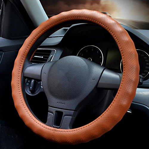 QLL Auto Lederlenkrad Abdeckung vier Jahreszeiten atmungsaktive ganze Kreis konvex rutschfeste ,...