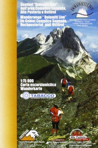 Tabacco Wandern 1 : 75 000 'Dolomiti Live' im Gebiet Comelico Sappada, Hochpustertal und Osttirol [Lingua tedesca]