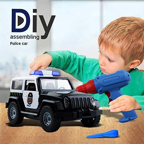 Mitlfuny Auto-Modell Plüsch Bildung Squishy Spielzeug aufblasbares Spielzeug im Freien Spielzeug,Police Car - Bauen Sie Sich Ihren DIY-Rennwagen-Bausatz als Spielzeug-Rennwagen auf