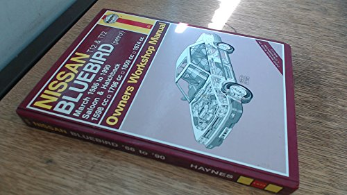 Nissan T12 and T72 Bluebird (Petrol) March 86-90 Owner's Workshop Manual por Jeremy Churchill