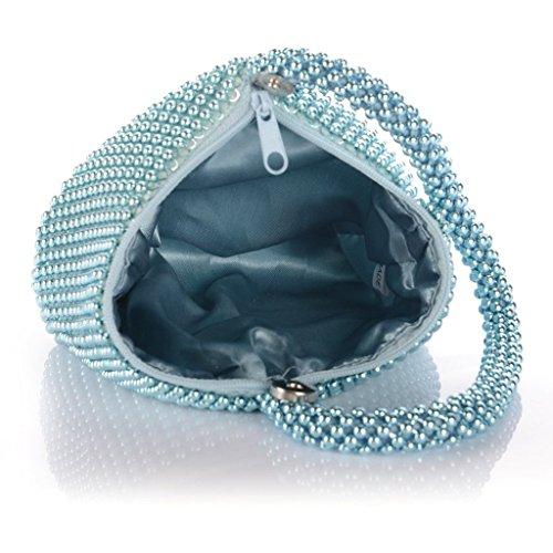 ERGEOB Damen Clutch Kreatives Design Diamant/Aluminium Handtasche Abendtasche Dreiflächner Partytasche Aluminium Blau