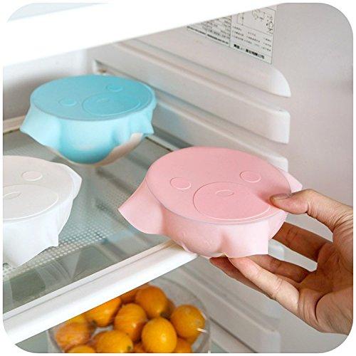 3silicone Plastic Wrap cling film Covers microonde frigorifero antipolvere tenuta