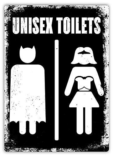 Wise Degree Superhelden Unisex Toiletten Bar Poster Club Wand Küche Kunst Cafe Garage Büro Shop Dekoration