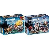 Playmobil 6005 - Tarnkutsche der Falkenritter & 6038 - Riesenkanone