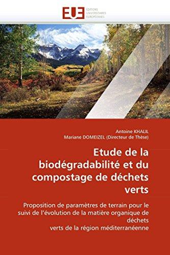 Etude de la biodgradabilit et du compostage de dchets verts