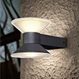 Wandleuchte CONE | 2x3 Watt LED | Kaltweiß | Aluguß | Anthrazit | 2-flammig | IP54