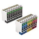 18 Packung GREENBOX Kompatibel Druckerpatronen Tintenpatronen Ersatz für EPSON 16XL für Epson WorkForce WF-2010 WF-2500 WF-2510 WF-2520 WF-2530 WF-2540 WF-2630 WF-2650 WF-2660 WF-2700 WF-2750 WF-2760 ( 9 x Schwarz, 3 x Cyan, 3 x Magenta, 3 x Gelb )