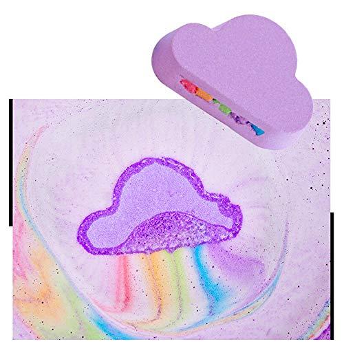 Womdee Badebomben, Regenbogen-Wolken-Badebomben mit Allen natürlichen und organischen Bestandteilen, Befeuchten Sie trockene Haut, reinigen Sie Gesicht und Haut, Überraschungs-Badebomben-Spielzeug