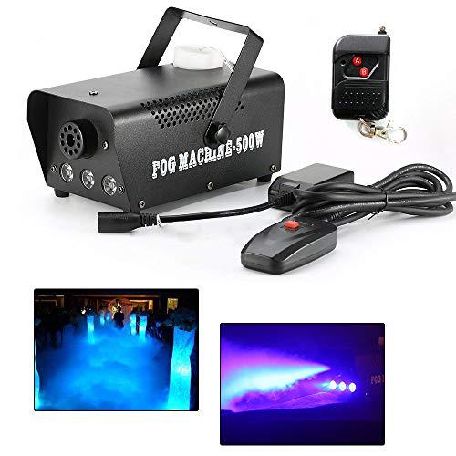 (OUBAYLEW 500W LED Rauch Nebelmaschine DJ Party Fog Effektmaschinen Nebel Effekt Fogger mit verkabelter/kabelloser Fernbedienung)
